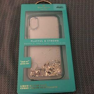 Kate Spade IPhone X Glitter Phone Case